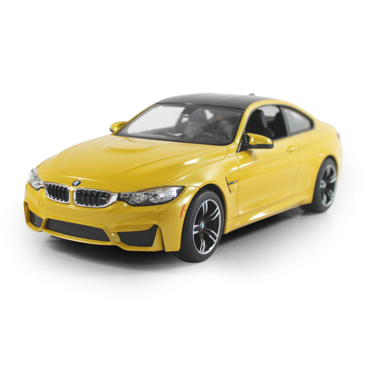 Masinuta cu telecomanda Rastar BMW M4 Coupe, Galben, 1:14