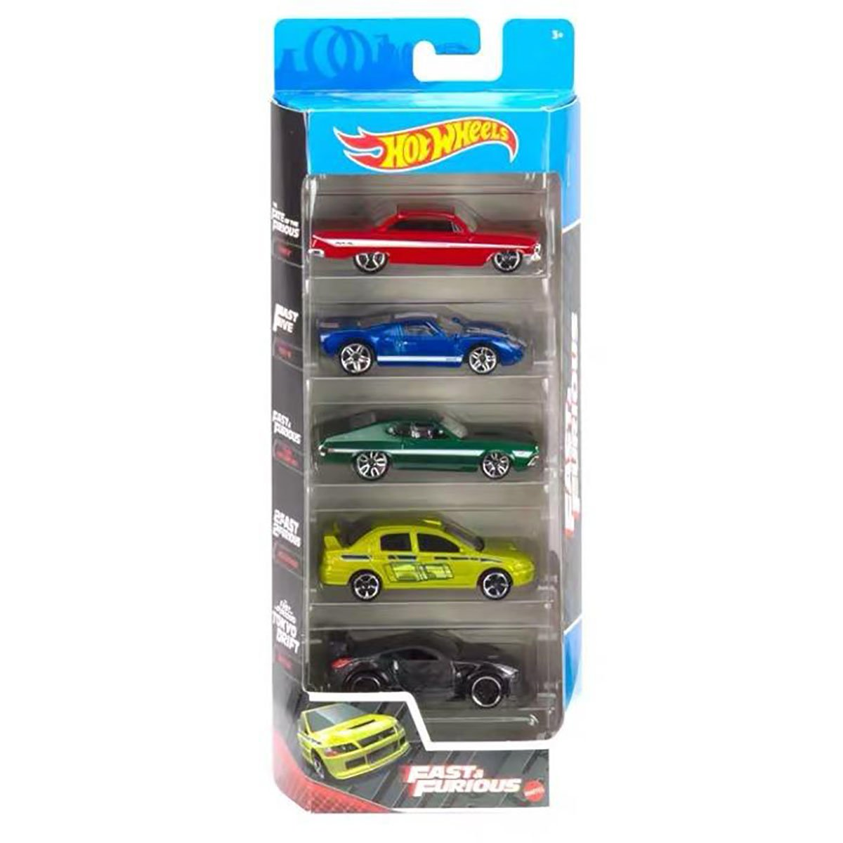 Set masinute Hot Wheels, Fast and Furious, GTN40, 1:64 (5 modele)
