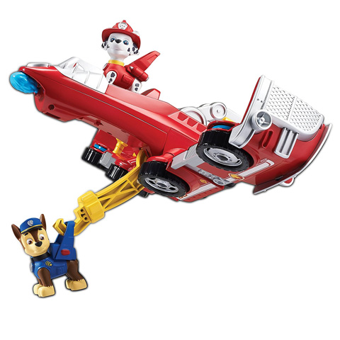 vehicule flip fly paw patrol - marshall