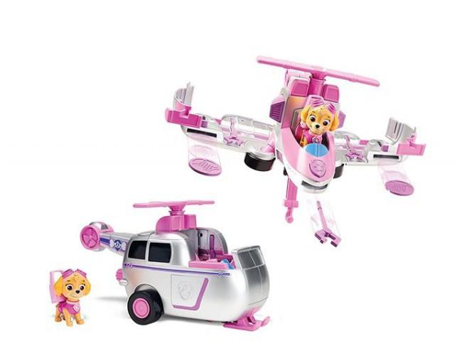 vehicule flip fly paw patrol - skye