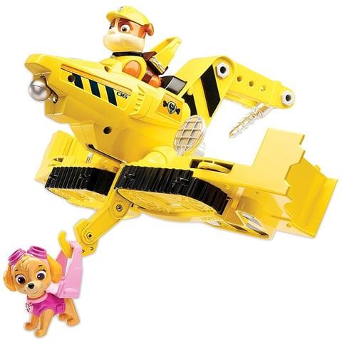 vehicule flip fly paw patrol - rubble