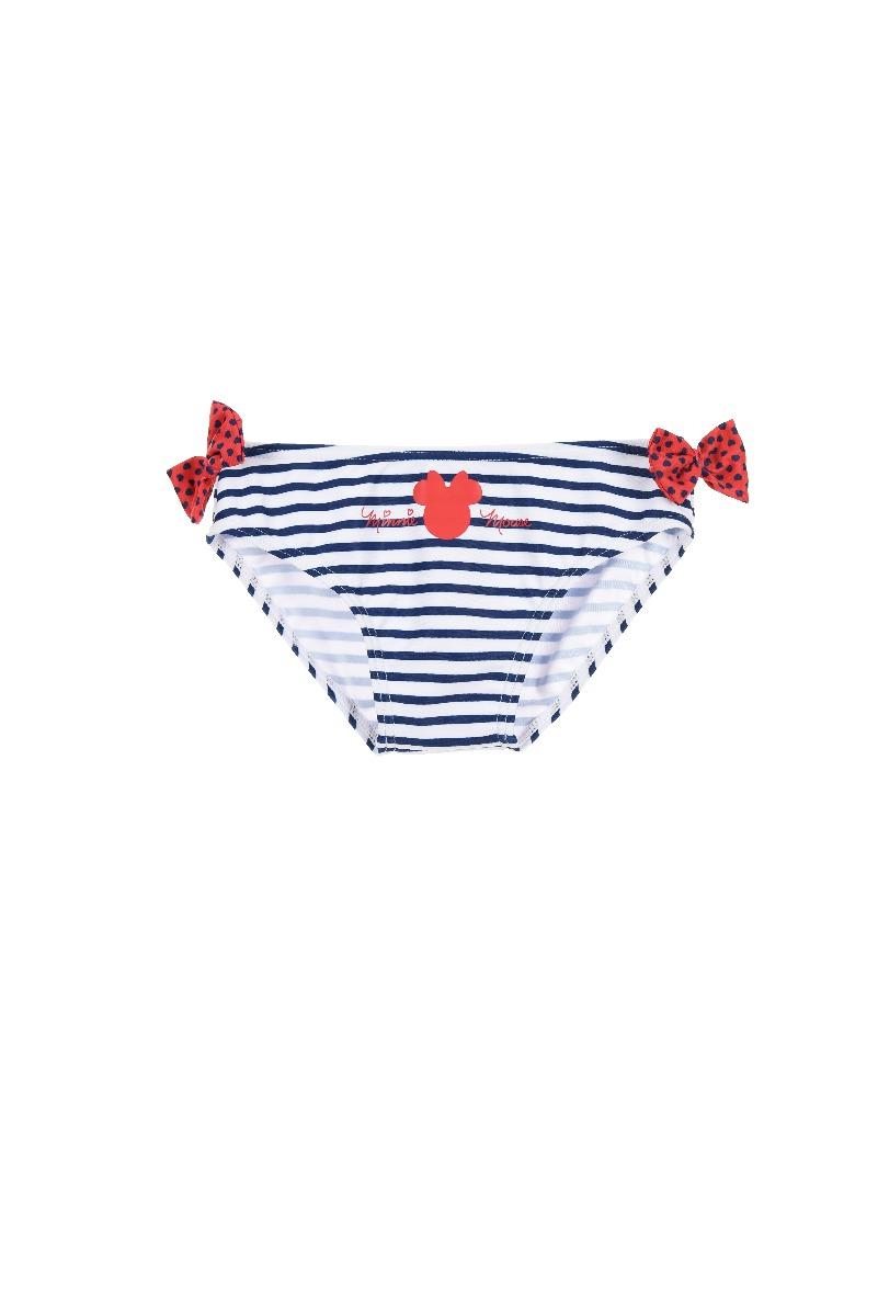 Slip de baie cu imprimeu Minnie, Albastru imagine