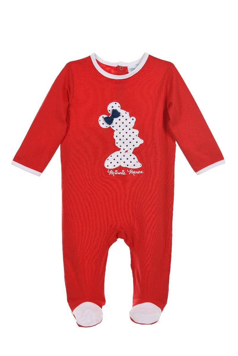 Salopeta bebe cu imprimeu Disney Minnie Mouse, Rosu imagine