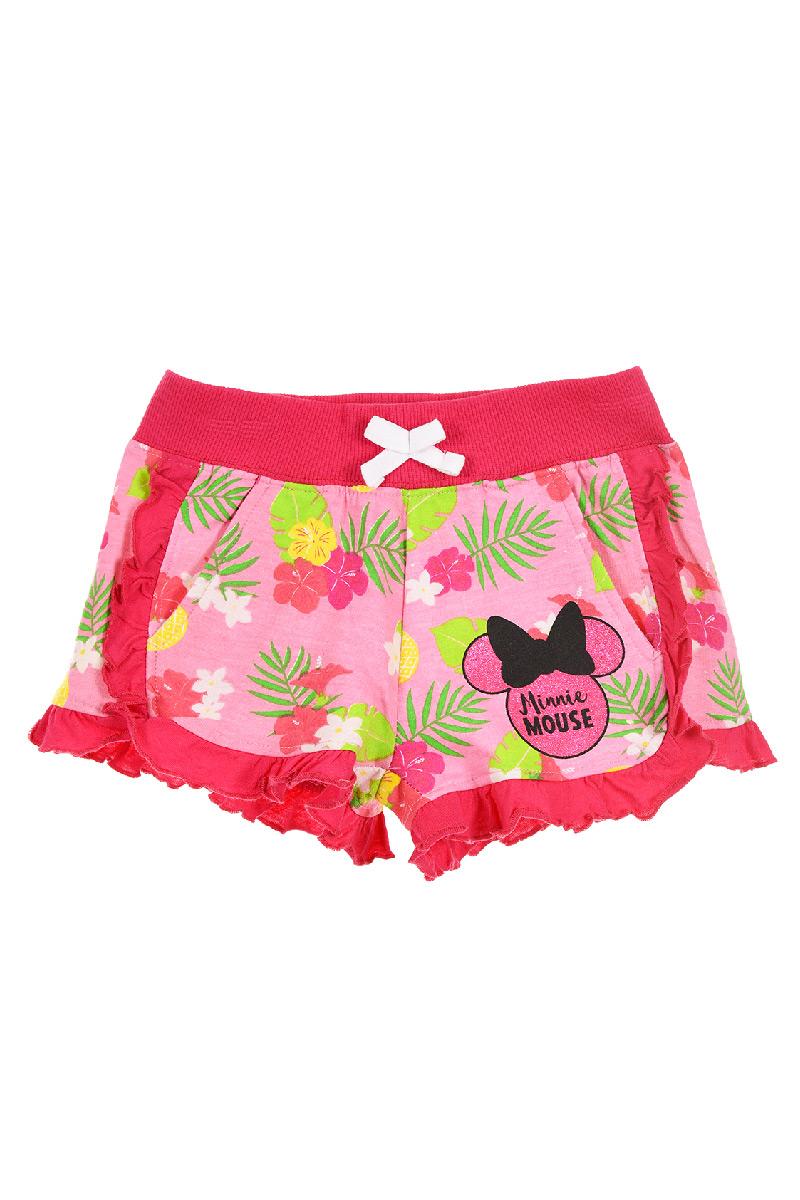 Pantaloni scurti cu imprimeu Minnie, Roz