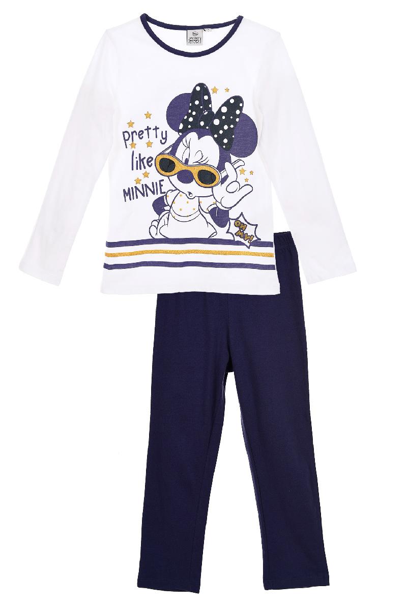 Pijama cu imprimeu Disney Minnie Mouse, Pretty, Alb imagine