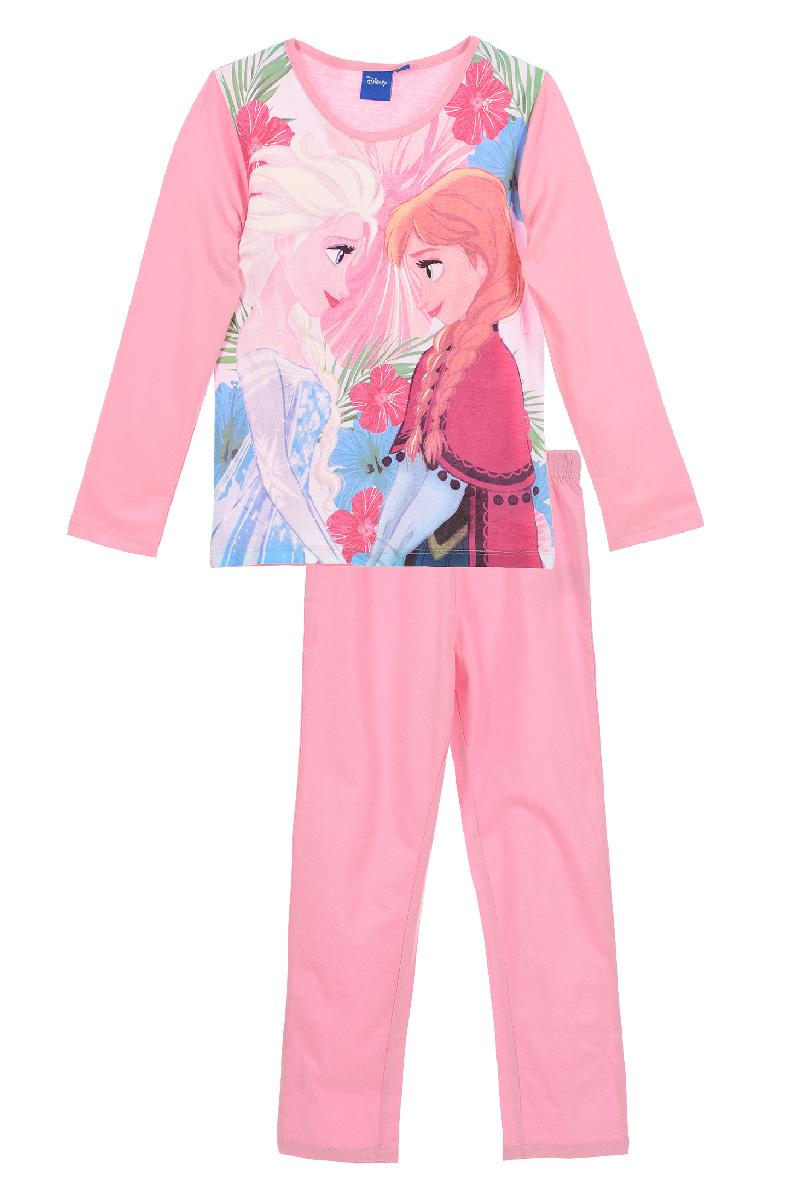 Pijama cu imprimeu Frozen, Roz