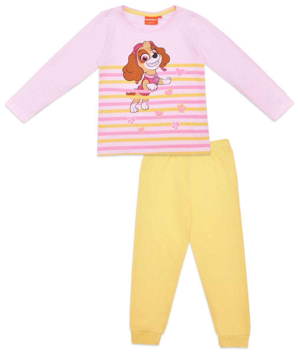 Pijama de fete cu imprimeu Paw Patrol, Skye, Galben