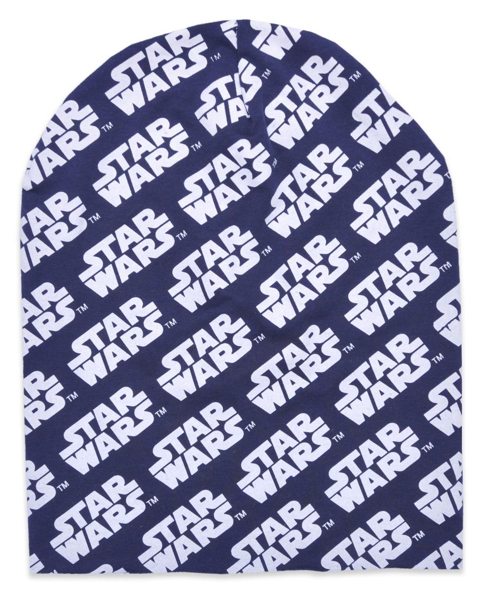 Caciula de baieti cu imprimeu Star Wars, Albastru