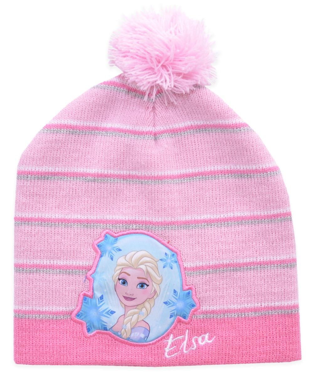 Caciula de fete cu imprimeu Frozen, Elsa, Roz imagine