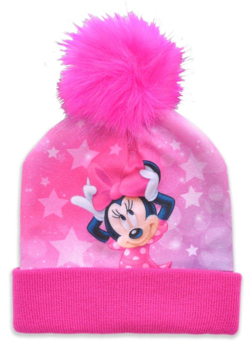 Caciula de fete cu imprimeu Minnie Mouse, Roz
