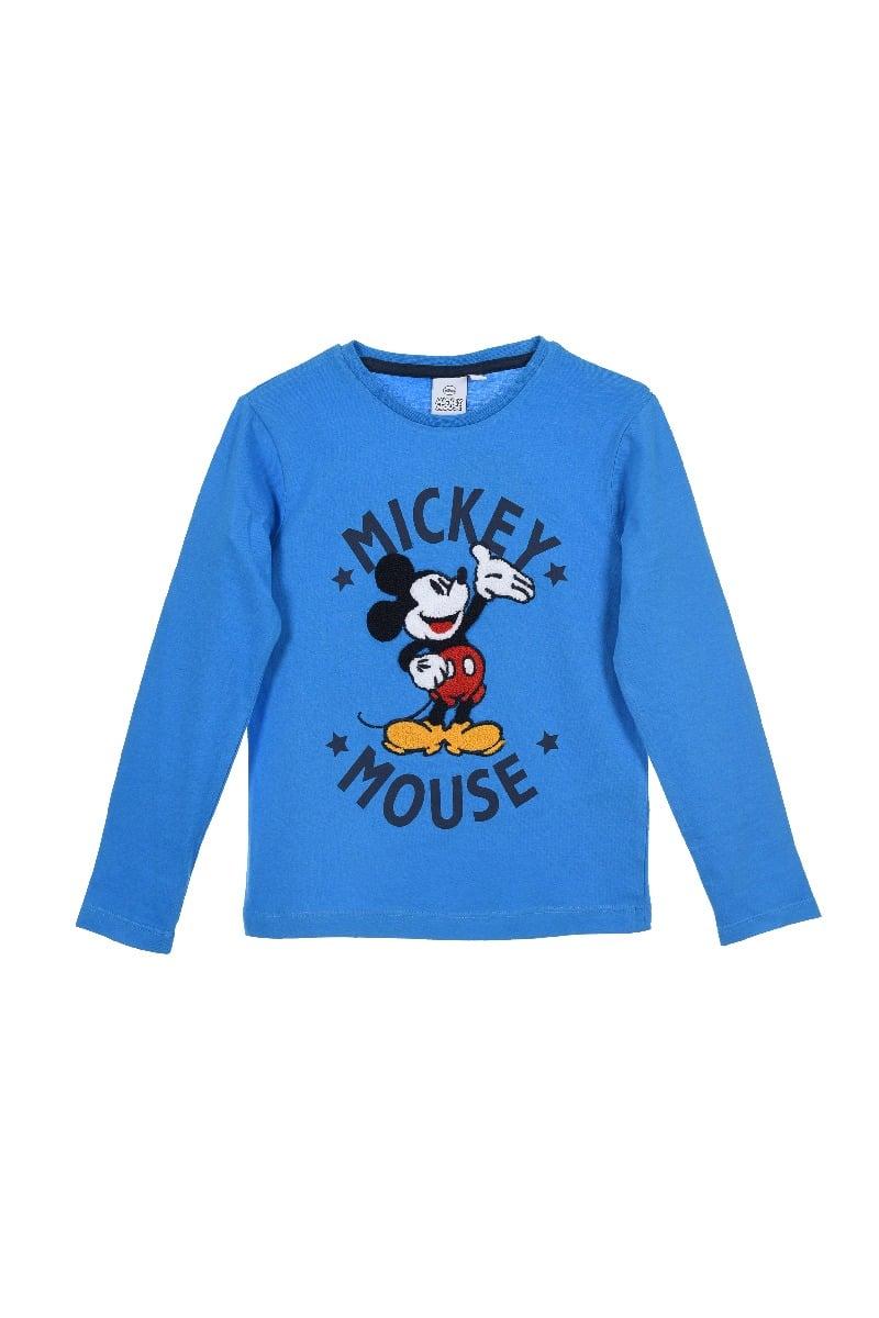 Tricou cu maneca lunga si imprimeu Mickey Mouse, Blue