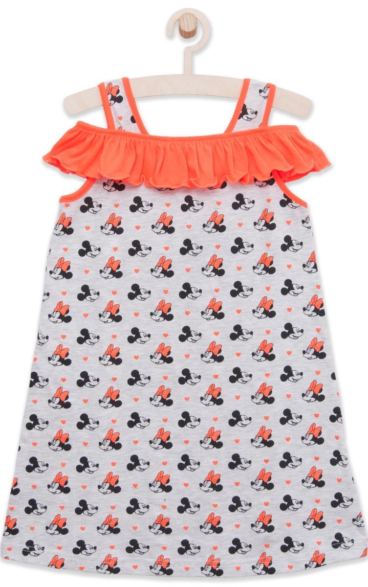 Rochie cu bretele si volane Disney Minnie Mouse, Corai