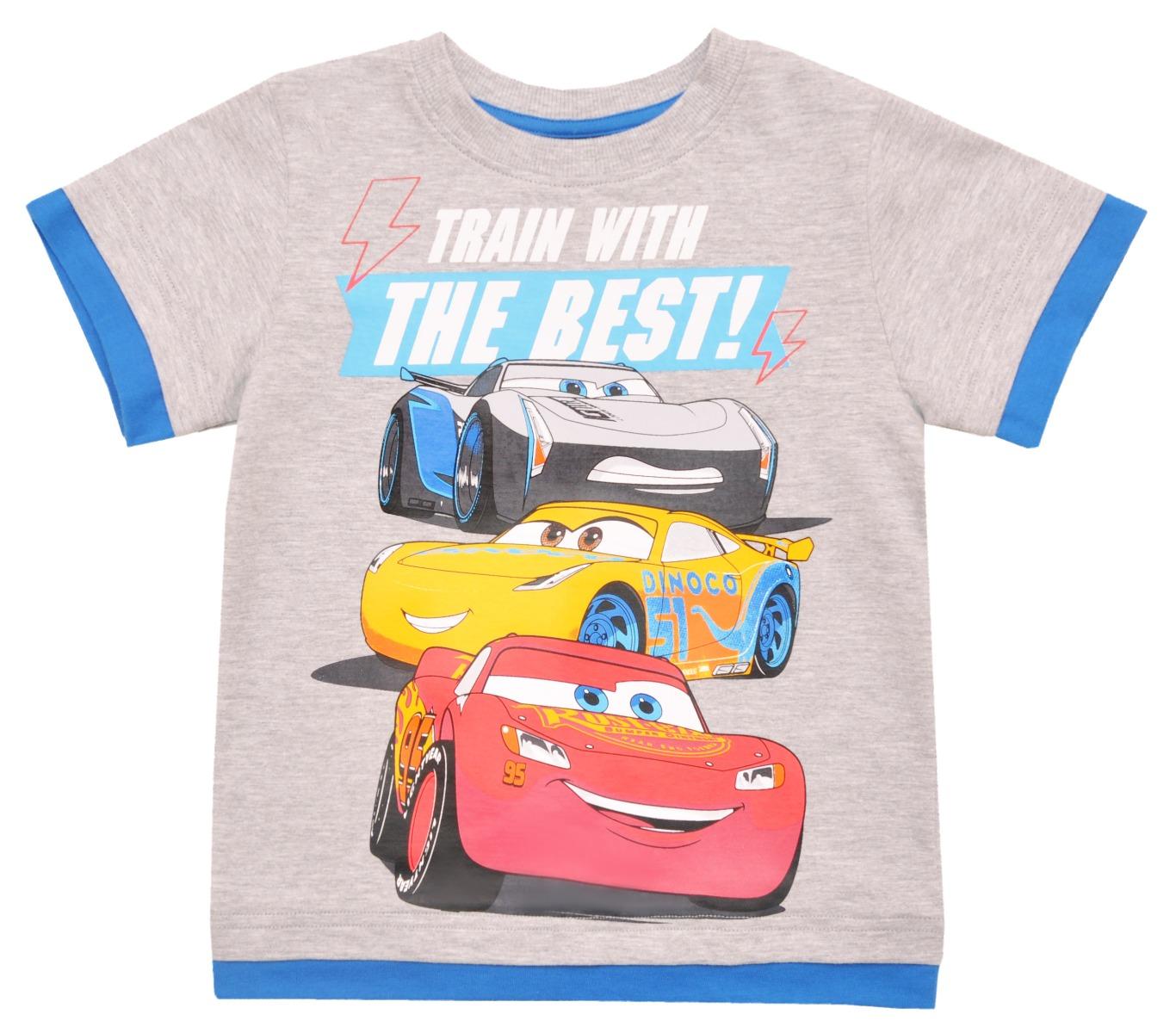 Tricou cu maneca scurta si imprimeu Disney Cars, Gri