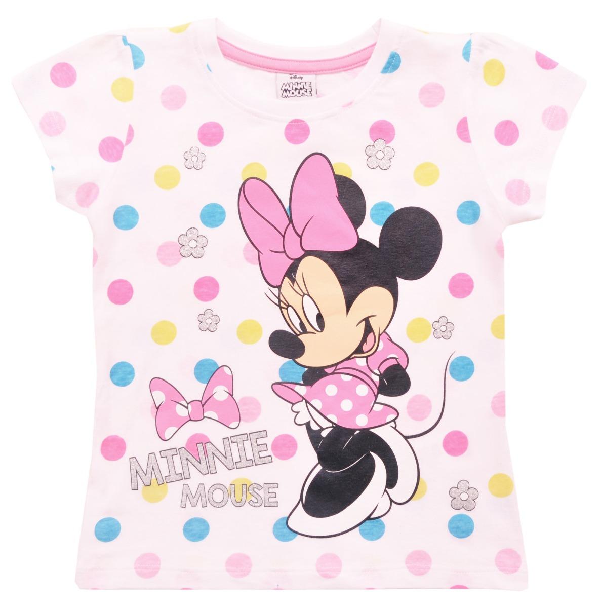 Tricou cu maneca scurta Disney Minnie Mouse, Alb
