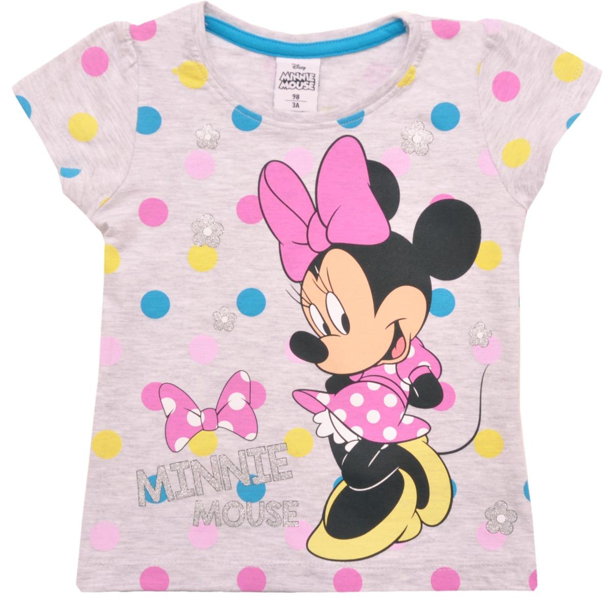 Tricou cu maneca scurta Disney Minnie Mouse, Gri