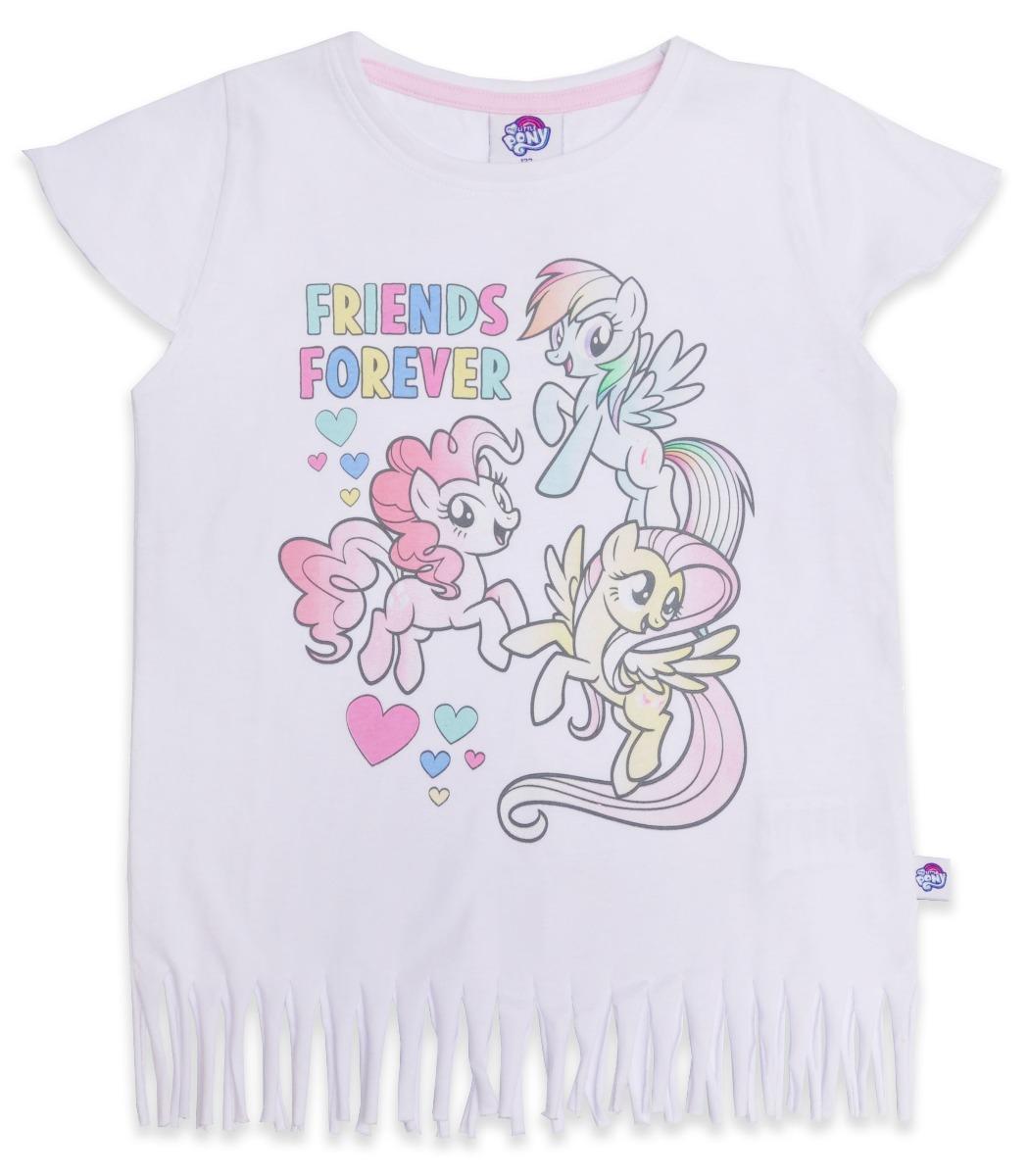 Tricou cu maneca scurta si imprimeu My Little Pony, Alb imagine