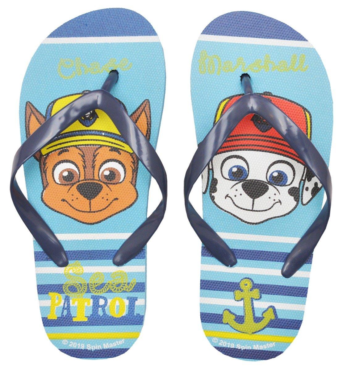 Papuci de plaja cu imprimeu Paw Patrol, Turcoaz