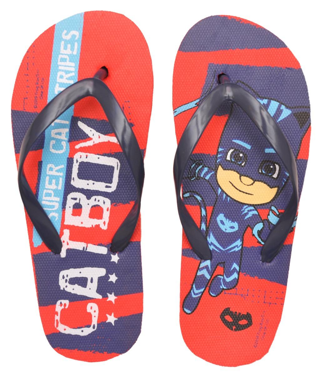 Papuci de plaja cu imprimeu Pj Masks, Albastru