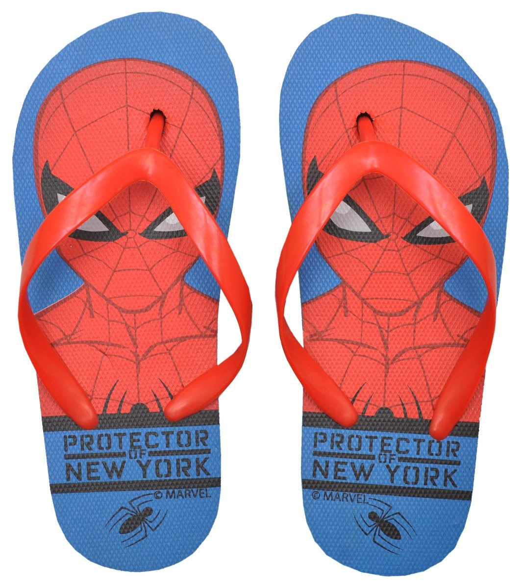 Papuci de plaja cu imprimeu Spiderman, Albastru imagine