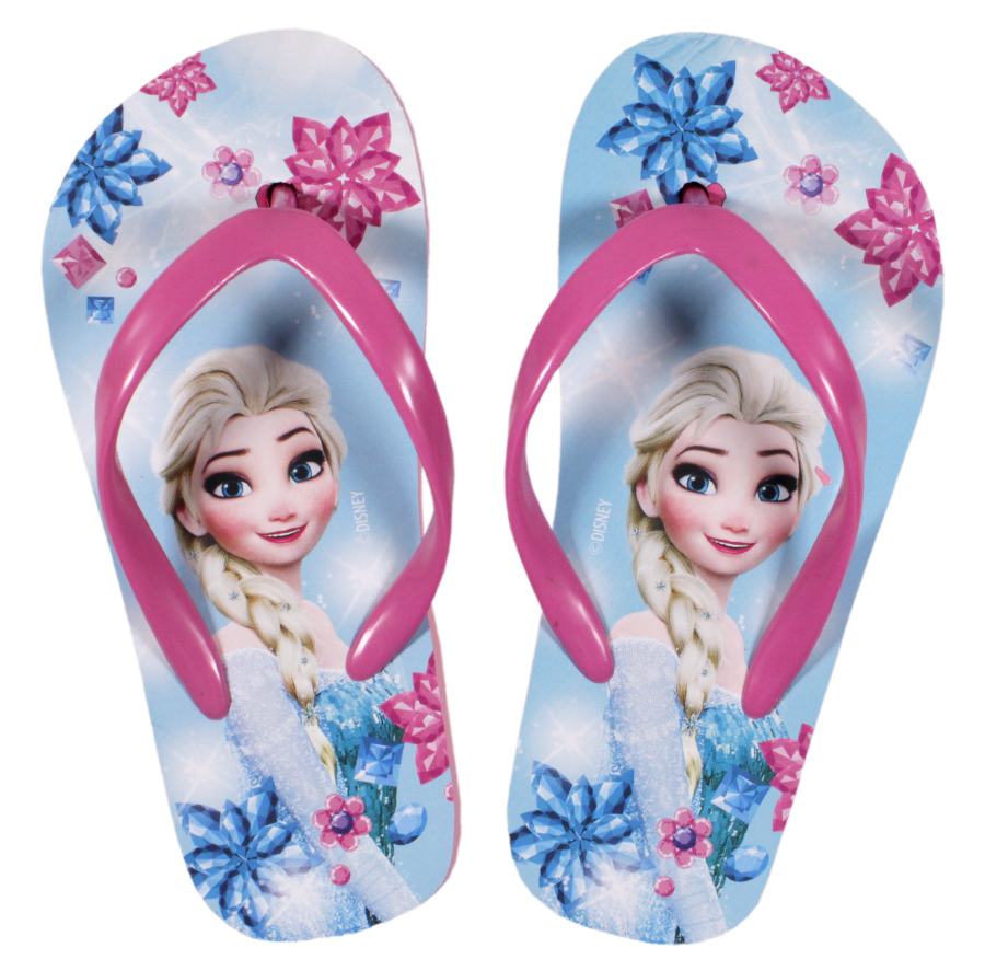 Papuci de plaja cu imprimeu Disney Frozen, Albastru