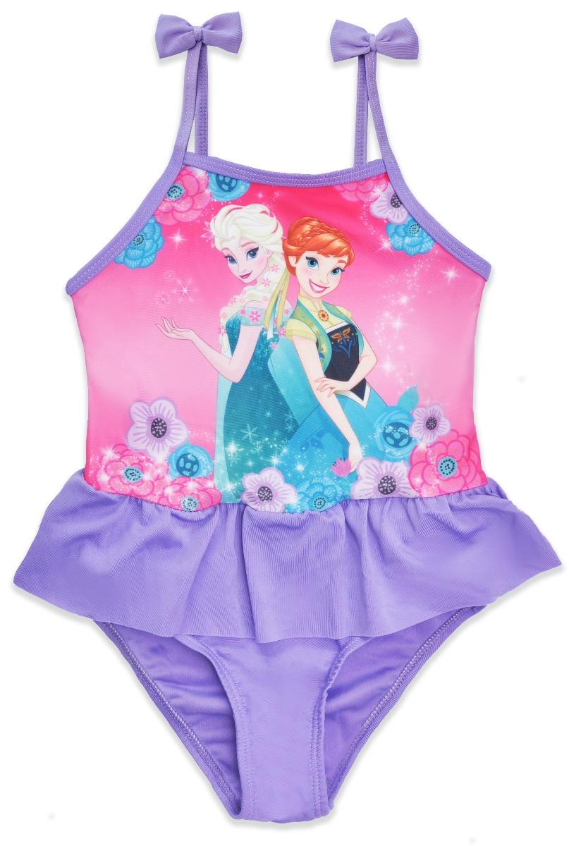 Costum de baie cu volane Disney Frozen, Mov imagine