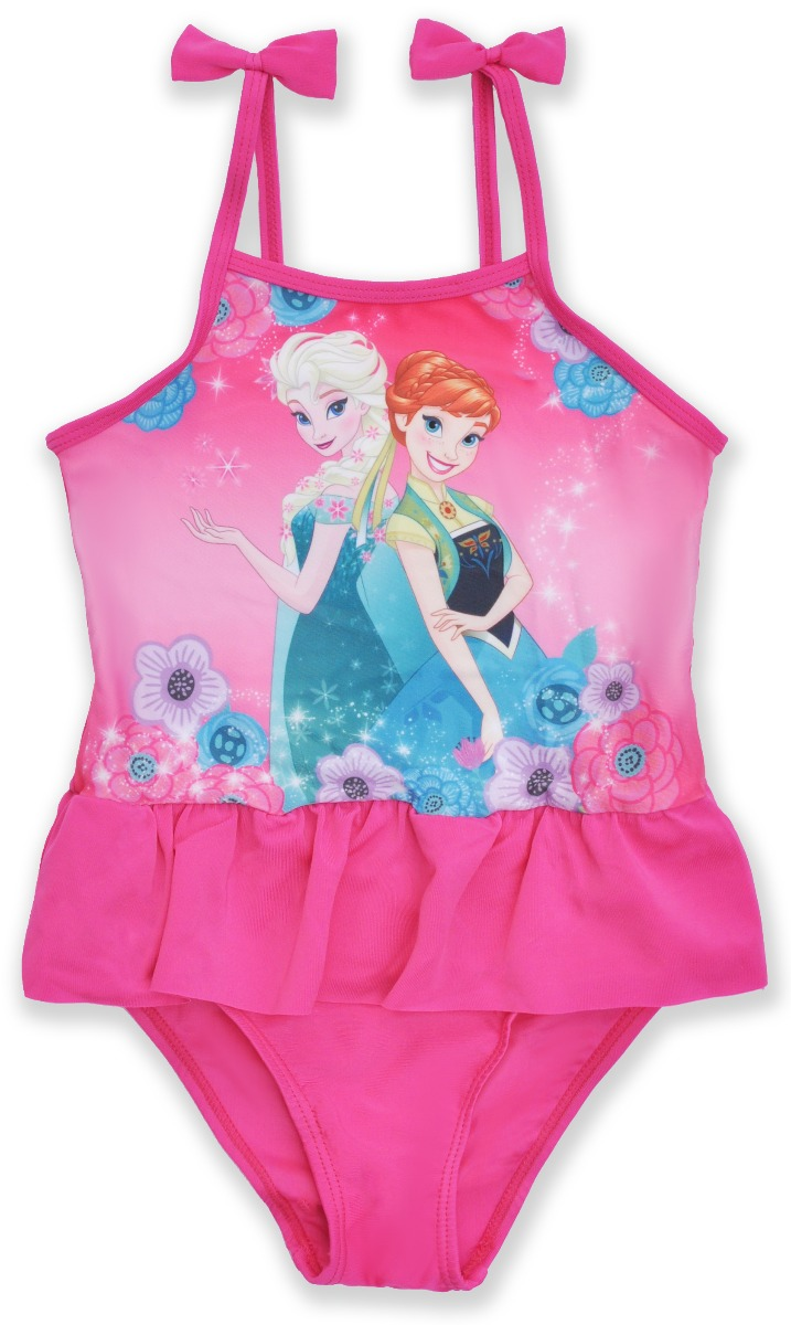 Costum de baie cu volane Disney Frozen, Roz imagine