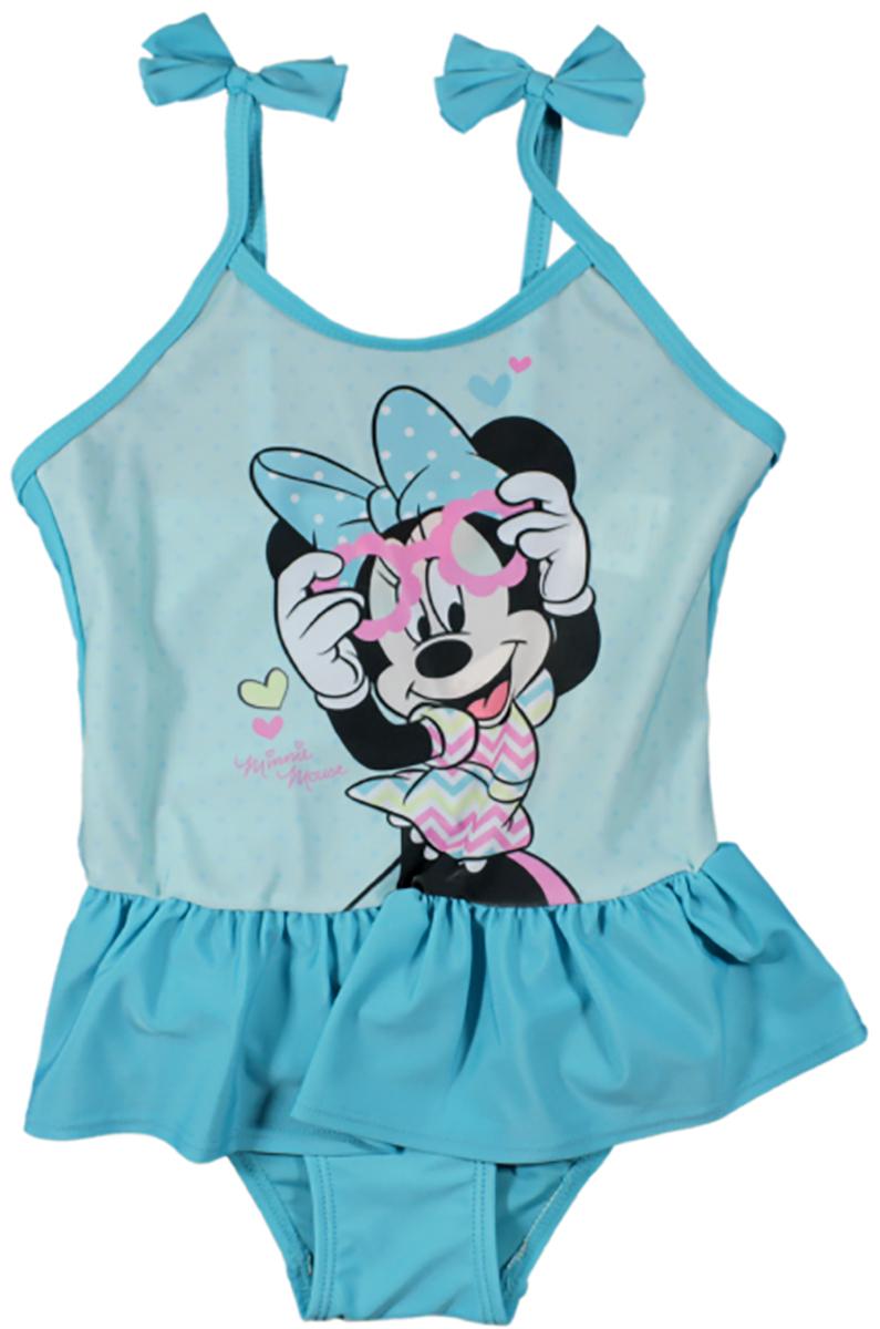 Costum de baie cu volane Disney Minnie Mouse, Albastru imagine