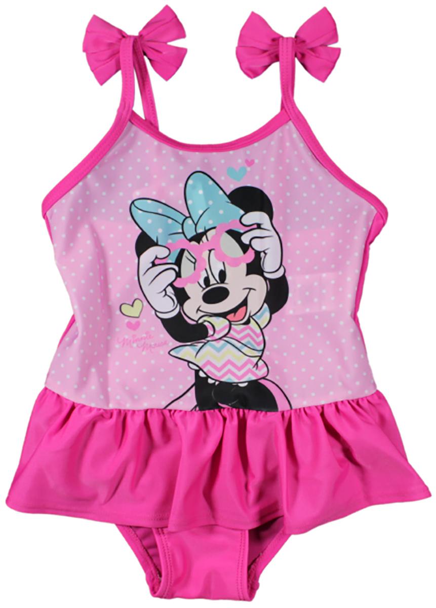 Costum de baie cu volane Disney Minnie Mouse, Roz imagine