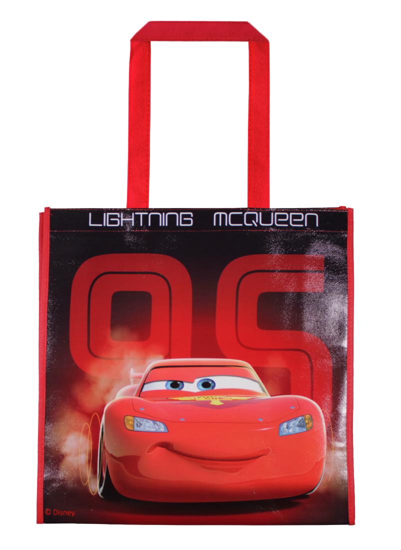 Sacosa de cumparaturi cu imprimeu Disney Cars, Rosu imagine