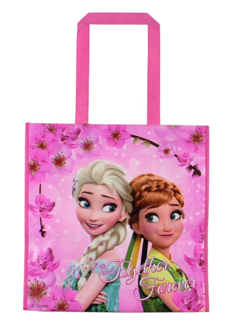 Sacosa de cumparaturi cu imprimeu Disney Frozen, Roz imagine