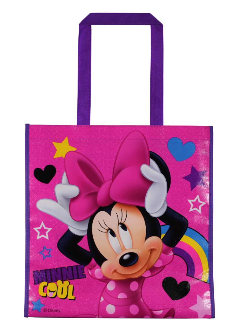 Sacosa de cumparaturi cu imprimeu Disney Minnie Mouse, Roz imagine