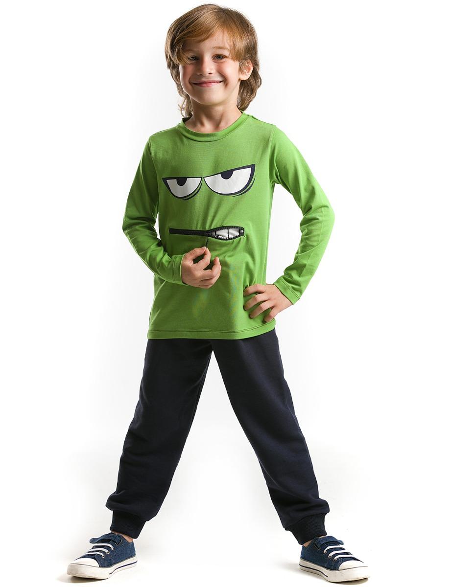 Set bluza cu maneca lunga si pantaloni sport Denokids imagine