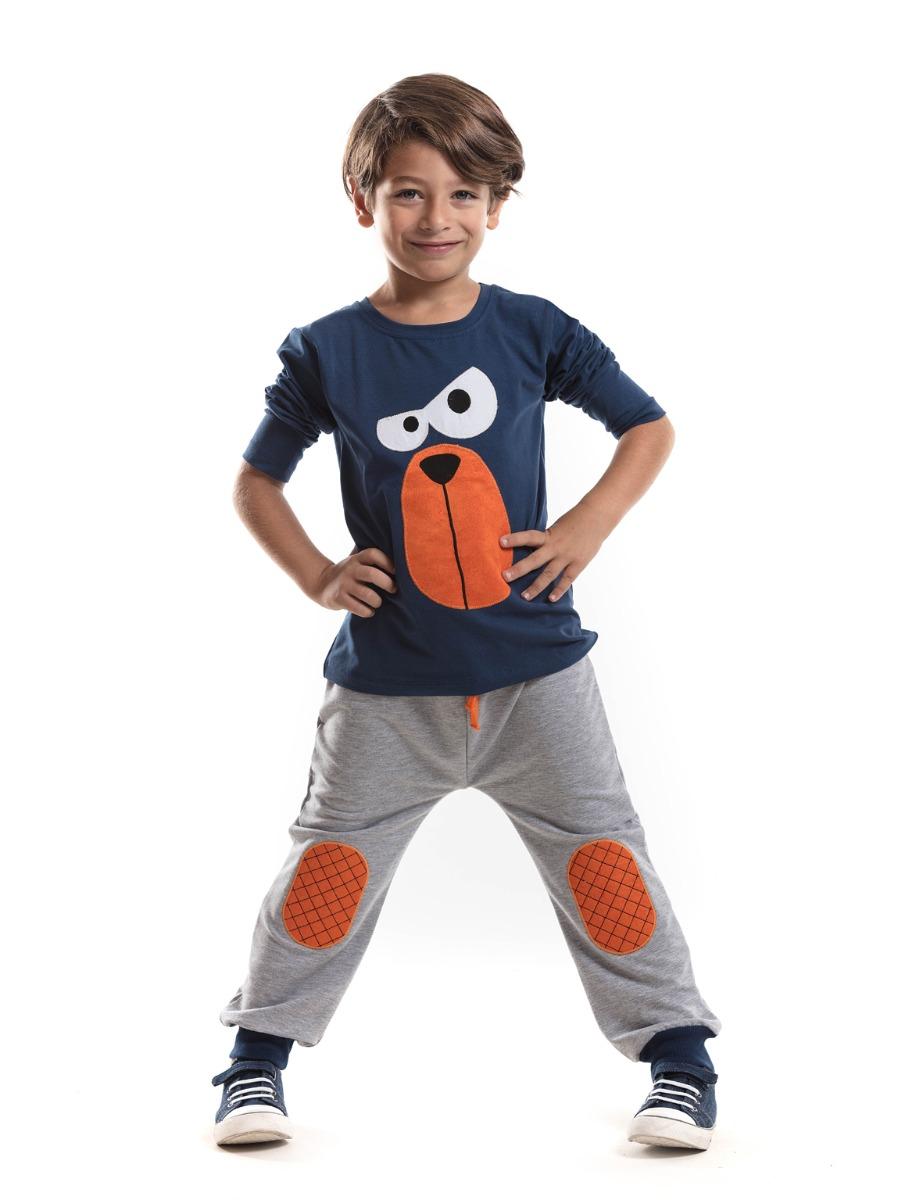 Set bluza cu maneca lunga si pantaloni sport Denokids