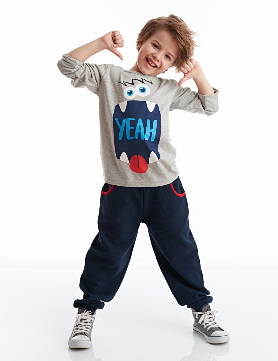 Set bluza cu maneca lunga si pantaloni sport Denokids imagine 2021