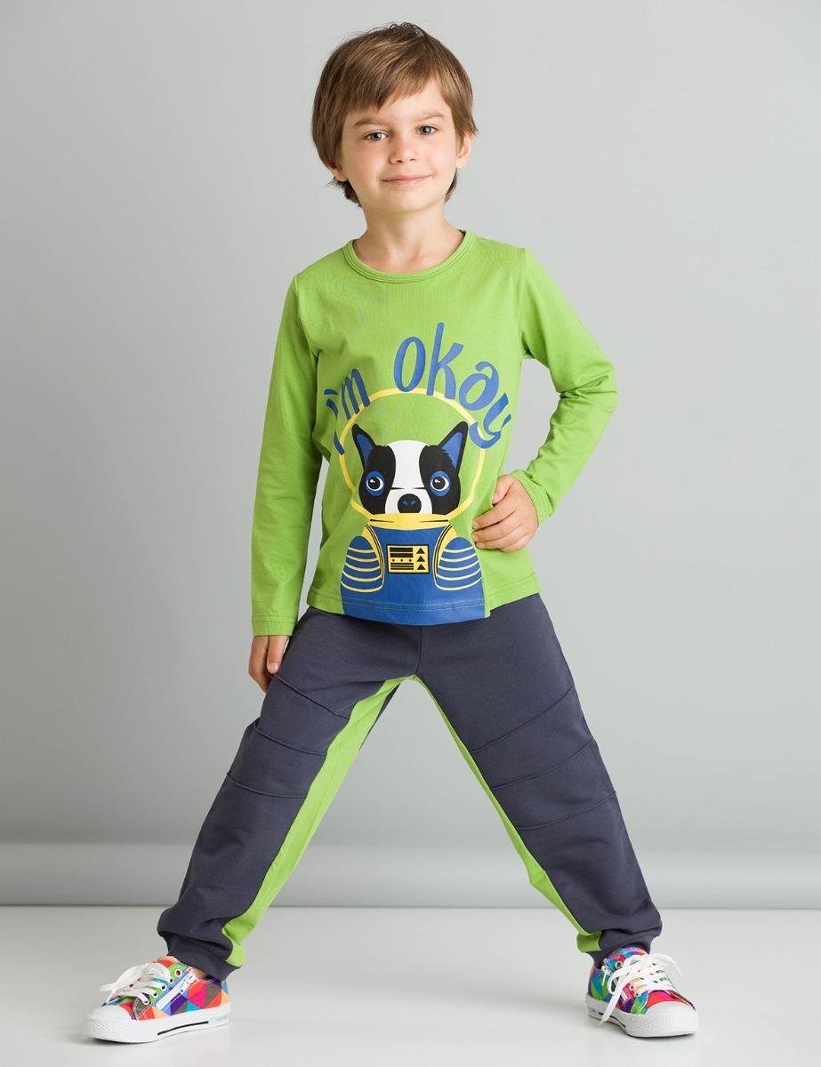 Set bluza cu maneca lunga si pantaloni sport Mushi I'm Okay imagine 2021
