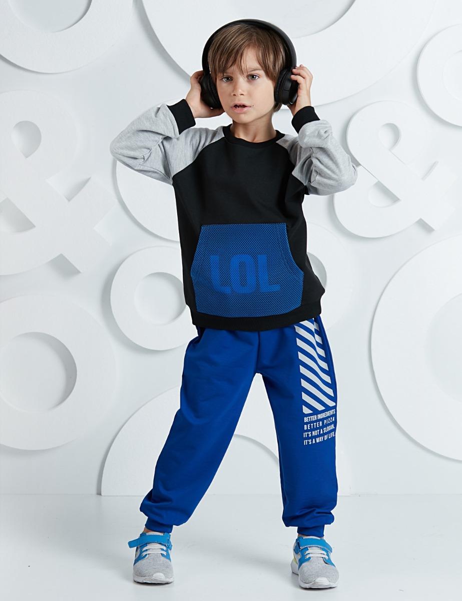 Set bluza cu maneca lunga si pantaloni sport Mushi imagine