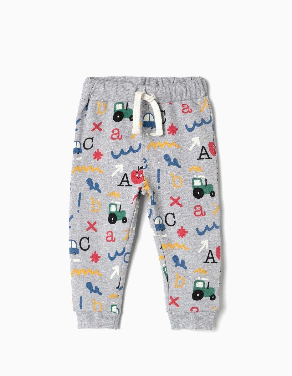 Pantaloni sport cu banda elastica Zippy Alphabet imagine