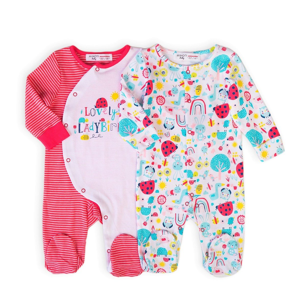 Set 2 bucati salopeta bebe Minoti Ladybug imagine