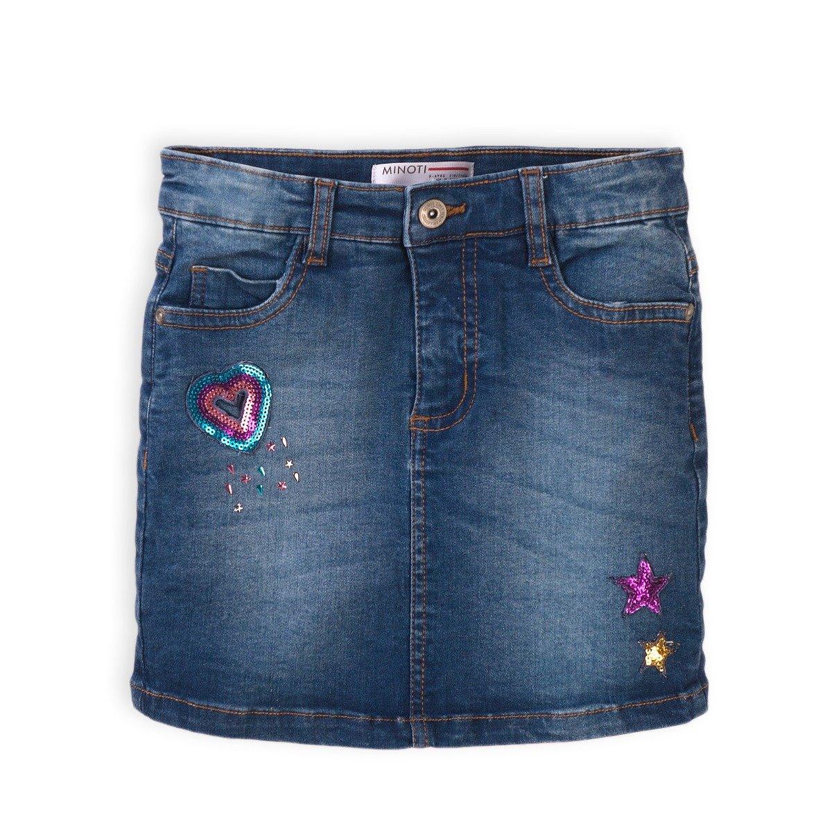 Fusta jeans cu paiete Minoti Skittles