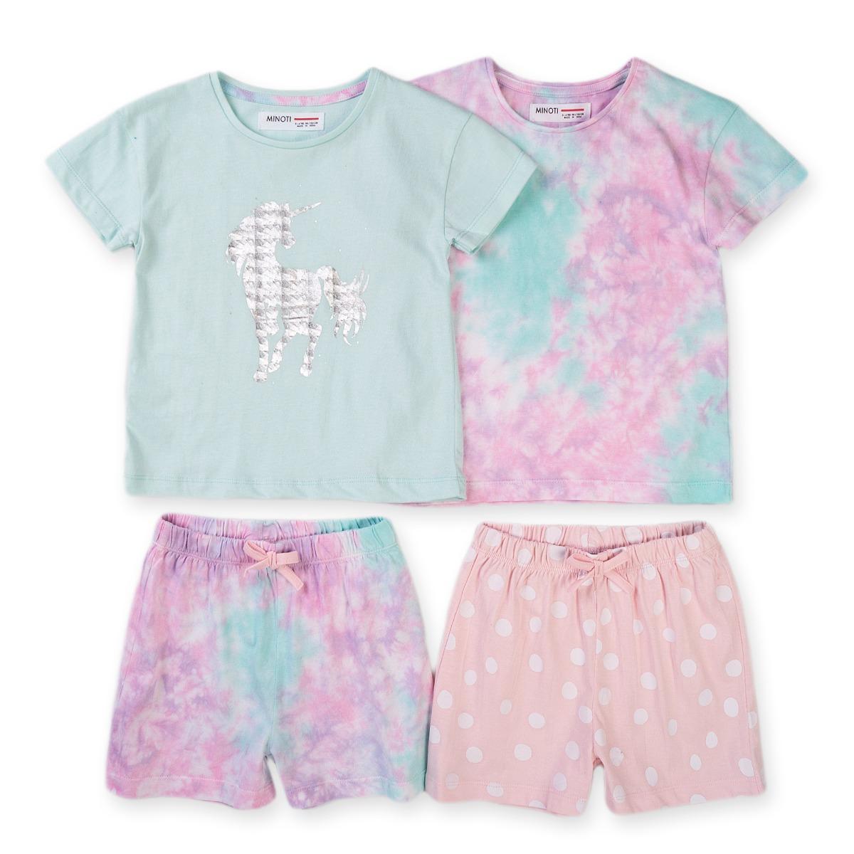 Set pijamale cu maneca scurta Minoti Kg Pyj
