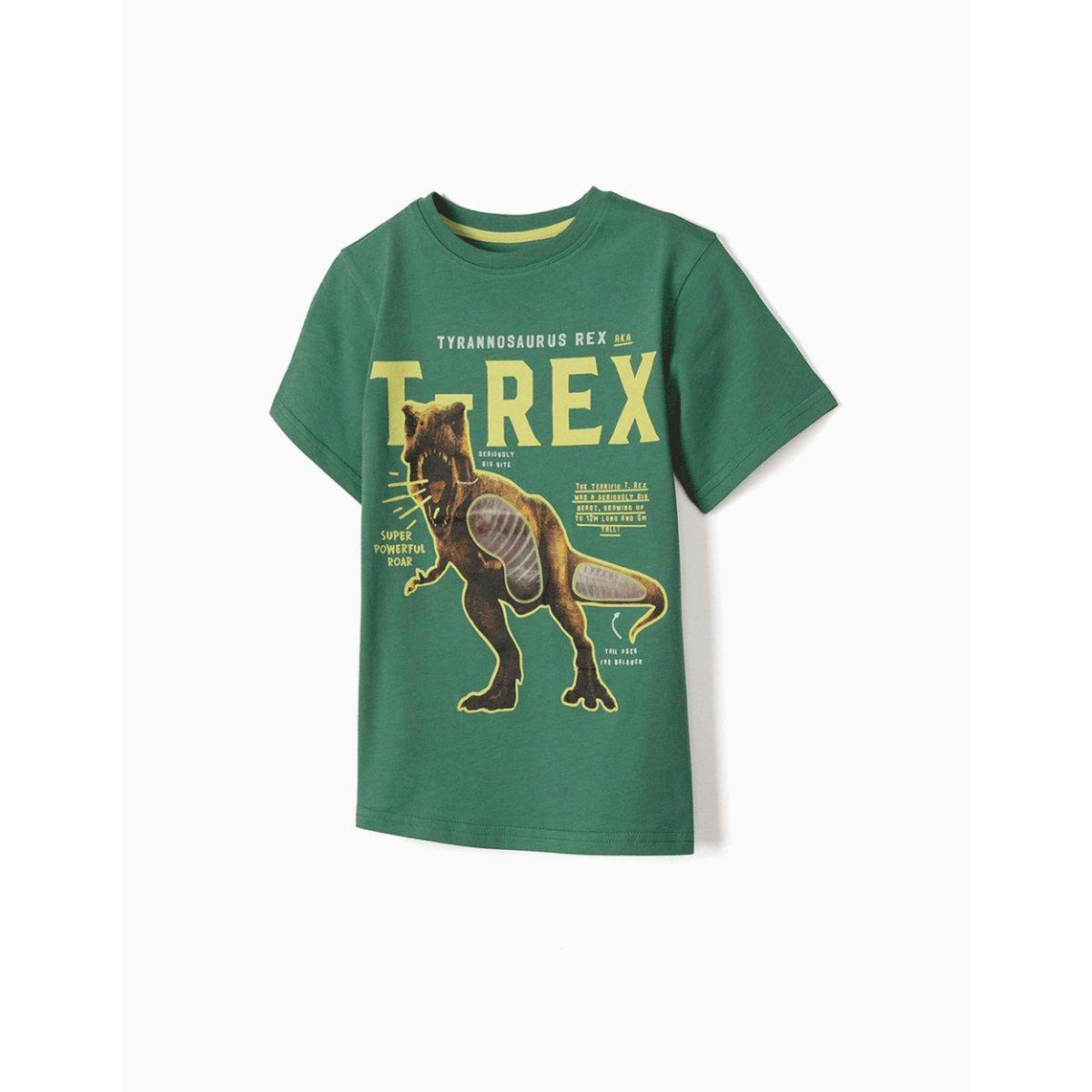 Tricou cu imprimeu frontal Zippy, T-Rex