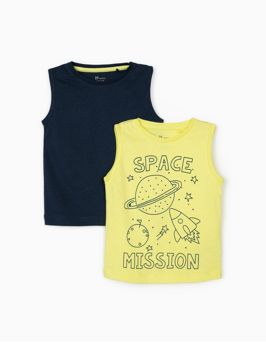 Set top cu maneca scurta si imprimeu Zippy Space Mission