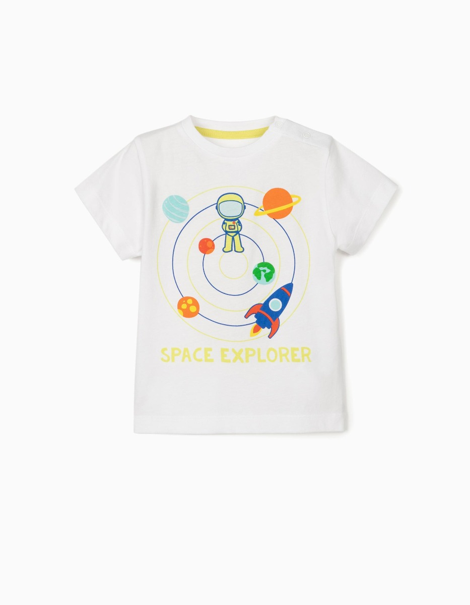 Tricou cu maneca scurta si imprimeu Zippy Space Explorer