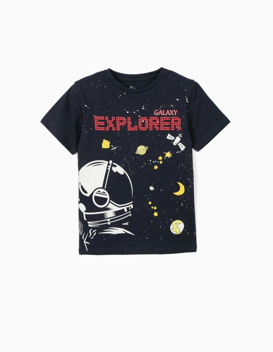 Tricou cu maneca scurta si imprimeu Zippy Galaxy Explorer imagine