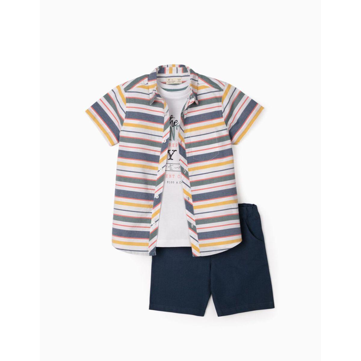 Set camasa, tricou si pantaloni scurti Zippy, Egypt