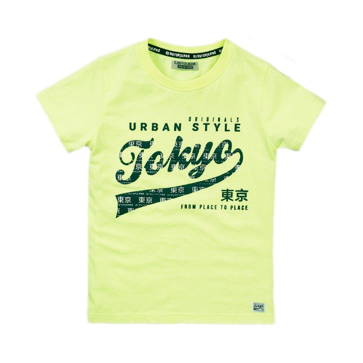 Tricou cu maneca scurta si imprimeu Dj Dutchjeans Tokyo imagine