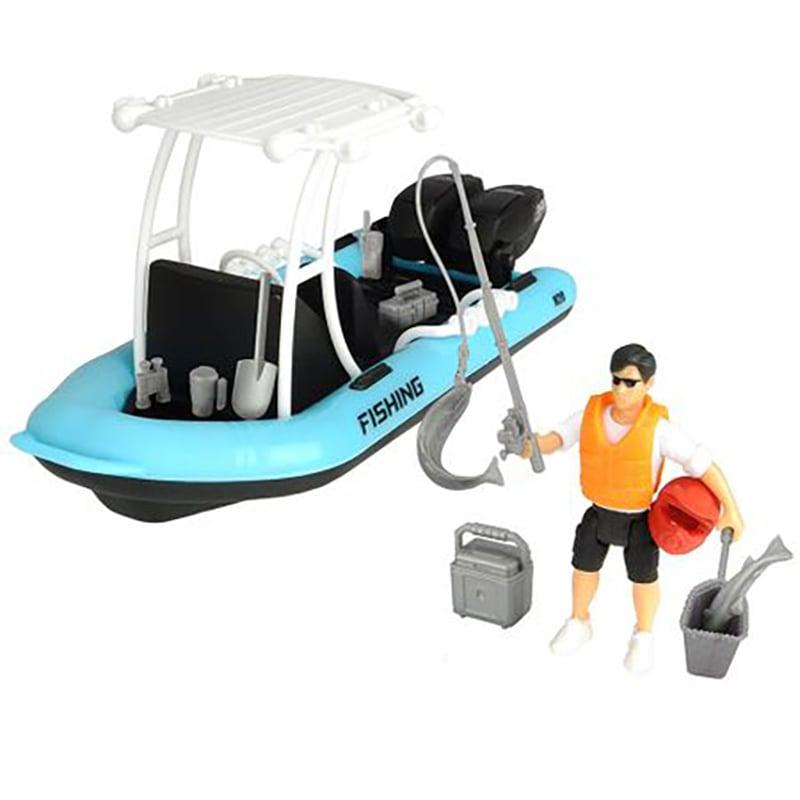 Set de joca cu Barca de pescuit si Figurina cu accesorii Dickie Toys Playlife