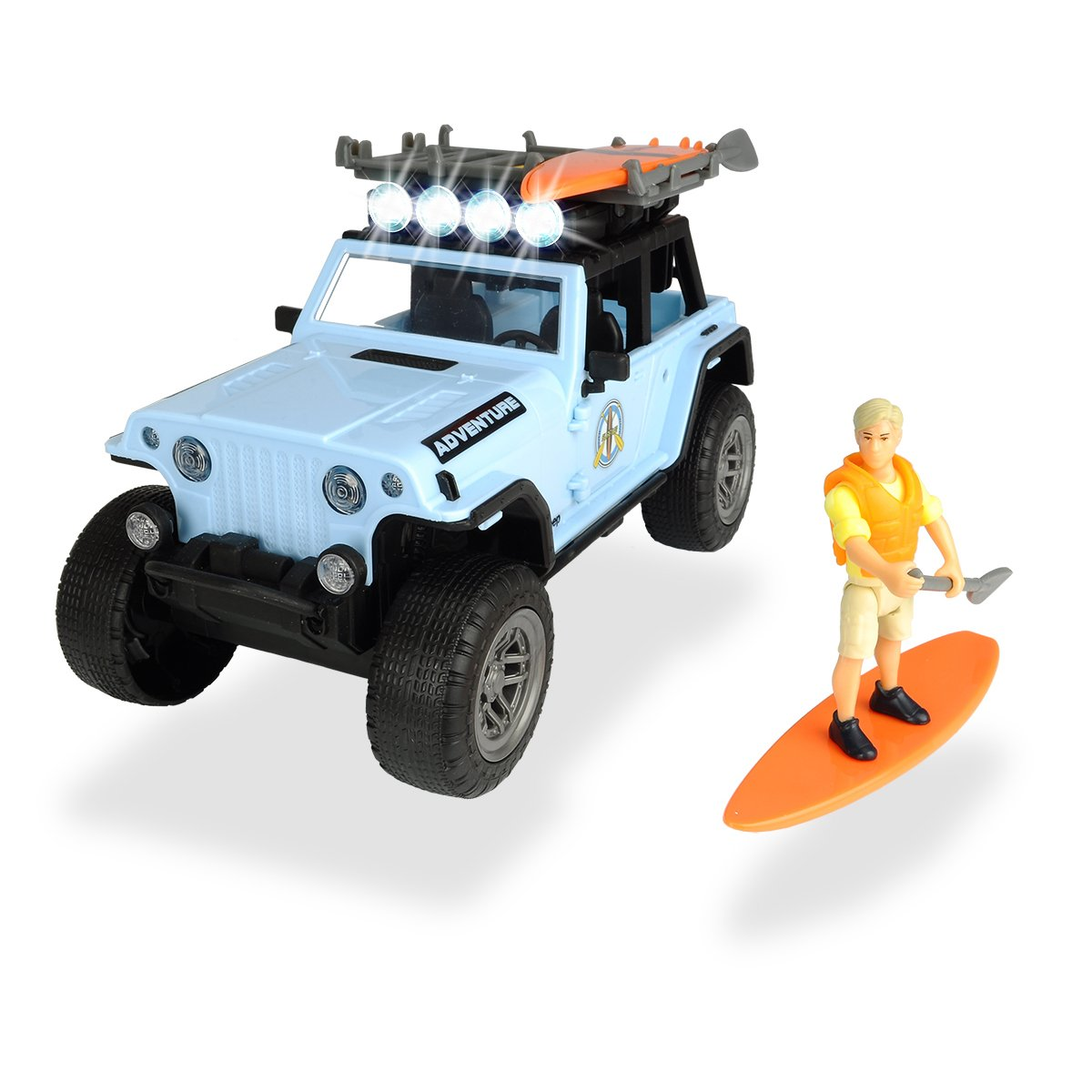 Set Masinuta Jeep cu figurina Dickie Playlife Surfer