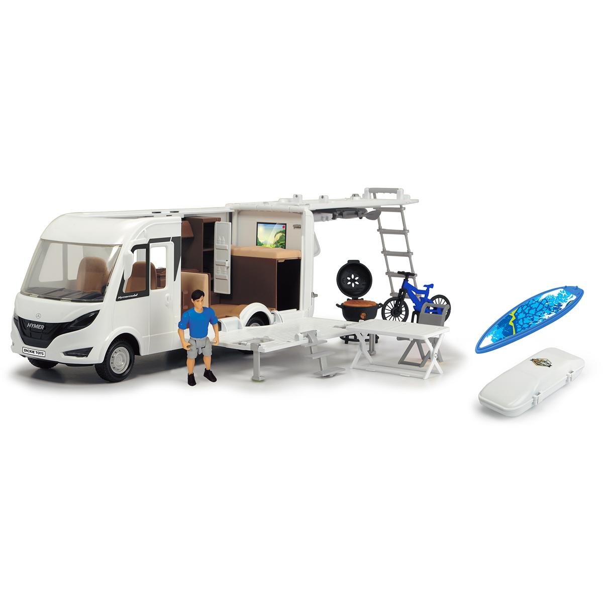 Set Masinuta autorulota Mercedes cu figurina Dickie Playlife Camper