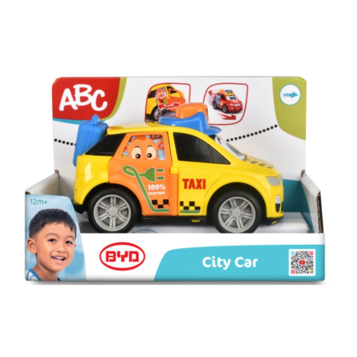 Jucarie bebelusi, masinuta, Abc, Byd City Car, Taxi